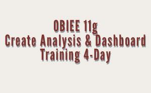 OBIEE Create Analysis Training