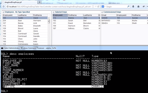 Oracle ADF Training Tutorial | How To Drag & Drop Table Rows
