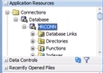 ADF database objects are viewable once configuration is corrected