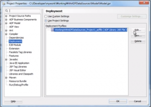 Editing the application Deployment Profile