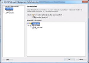 Amending the ADF database connection settings as part of the deployment process