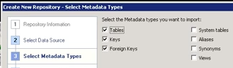Setting repository metadata types
