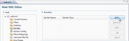 Adding a new servlet to web.xml