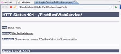 Error generated when running the Java servlet initially