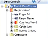 Relationships in the Data Control tree view pane